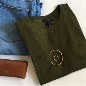 J. C r e w // Tippi Sweater - Olive Green